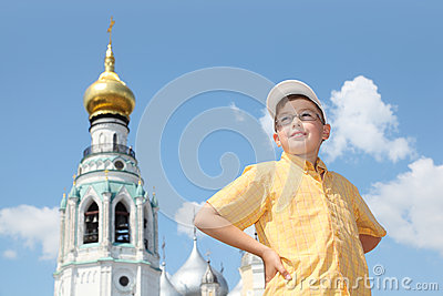 Boy near Holy Resurrection cathedral