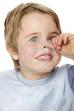 Boy nose