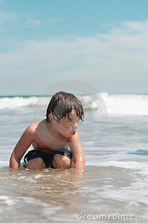 Boy at Ocean Beach