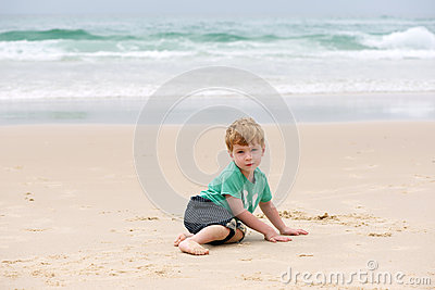 Boy at the ocean