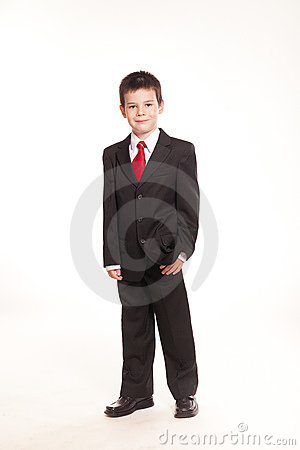 Boy in official dresscode