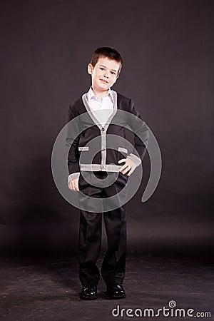 Boy in official dresscode