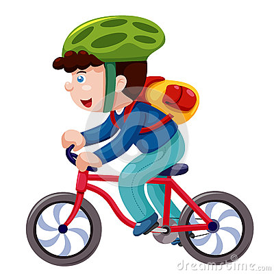 Free Boy On A Bicycle Stock Images - 26456794
