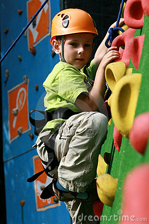 Free Boy On Climbing Wall Stock Photography - 11001542