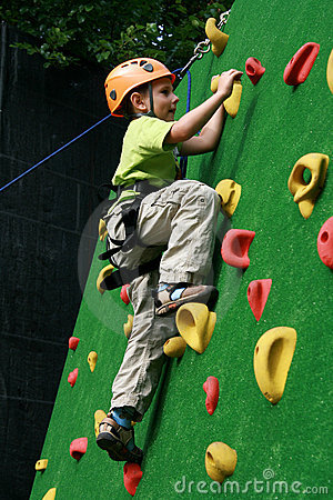 Free Boy On Climbing Wall Stock Photography - 13051552