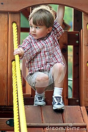 Free Boy On Playground Equipment Stock Photo - 1938780