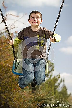 Free Boy On Swing Royalty Free Stock Photos - 18556348