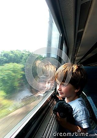 Free Boy On Train Royalty Free Stock Image - 80036