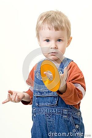 Free Boy On White Background Stock Photography - 577672