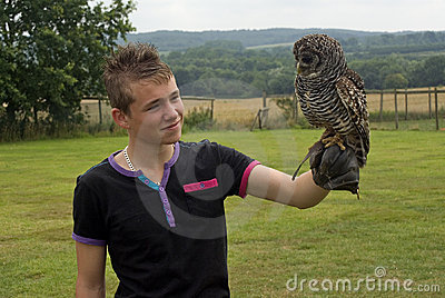 Boy with Owl