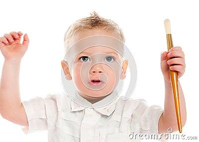 Boy with painbrush