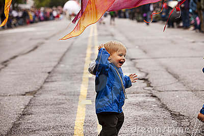 Boy In The Parade Editorial Image