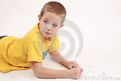 Boy and pen