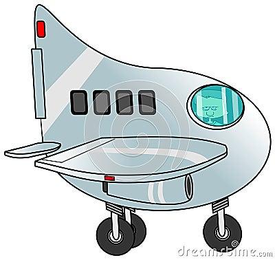 Boy piloting a jet plane