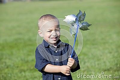 Boy pinwheel