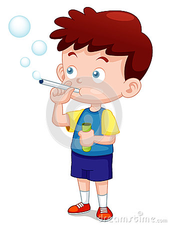 Free Boy Play Bubbles Pipe Royalty Free Stock Image - 28115606