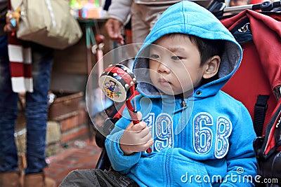 Boy play Drum