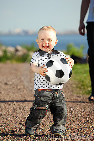 Boy play soccer