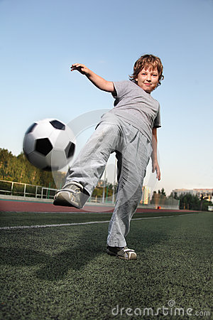 Boy play in soccer