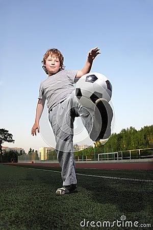Boy play in soccer
