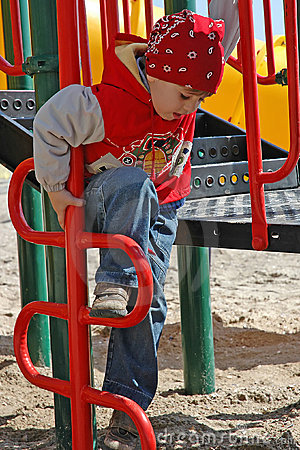 A boy at playground