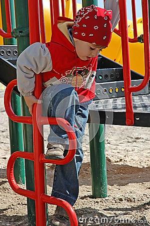 A boy at playground