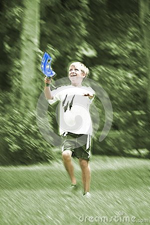 Boy Playing Catch