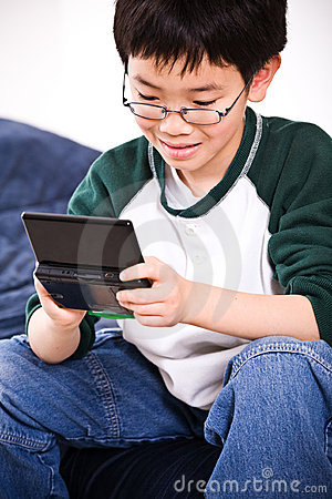 Boy playing games