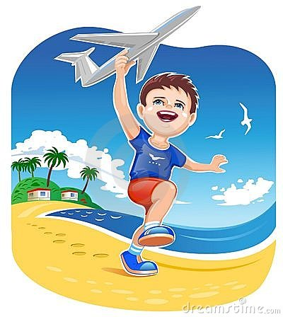 Free Boy Playing Jet Toy Royalty Free Stock Photo - 7406875