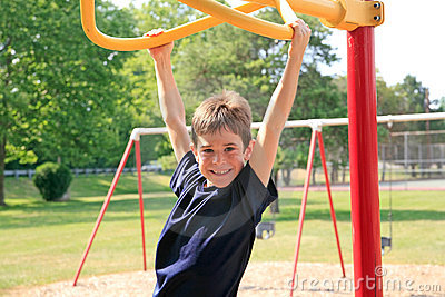 Boy Playing at the Playground