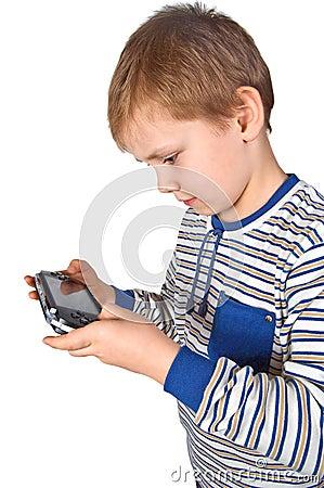 Free Boy Playing Psp Royalty Free Stock Photos - 3902988