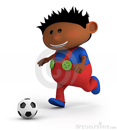 Free Boy Playing Soccer Royalty Free Stock Photos - 22987868