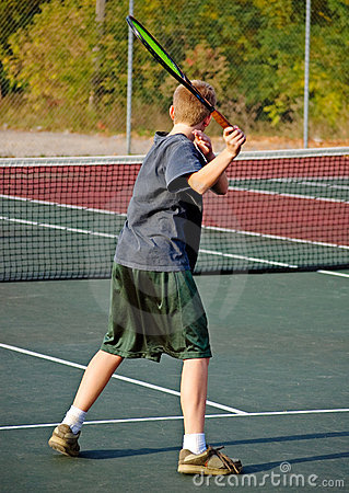 Boy Playing Tennis - Forehand