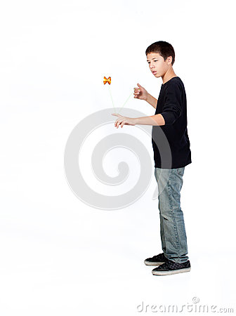 Boy playing yo-yo