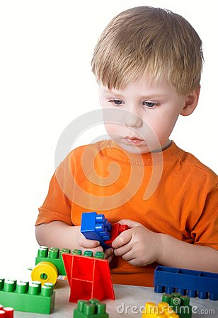 Boy plays