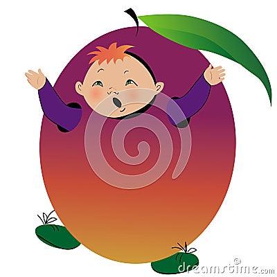 Boy in plum suit