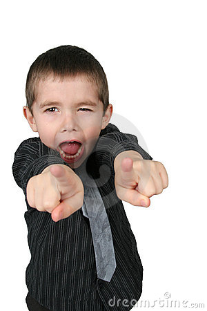 Free Boy Pointing His Two Fingers Royalty Free Stock Images - 1825829