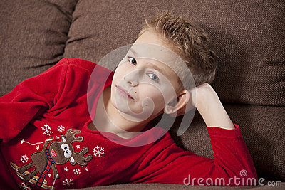 Boy Portrait in pyjama
