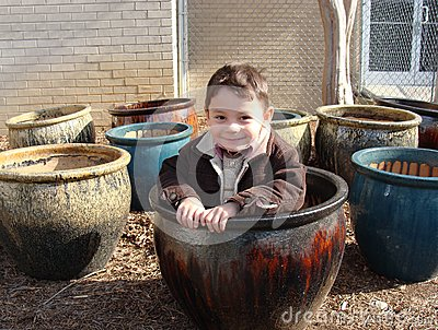Boy in the pot