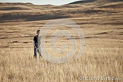 Boy on the prairie