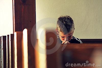 Boy is praying