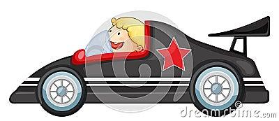 Boy and a racing car