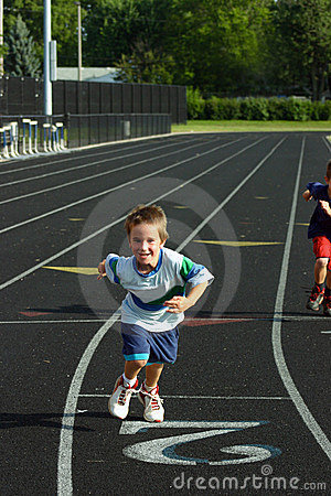 Free Boy Racing On Track Royalty Free Stock Images - 1243179