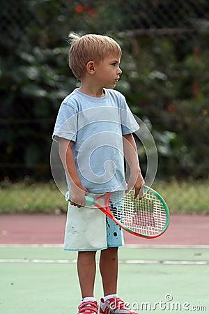 Boy with a racquet