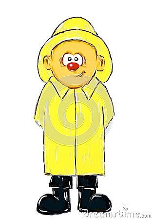 Boy with raincoat