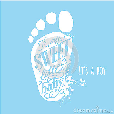 Free Boy Rattle Shower Invitation In Vector Royalty Free Stock Image - 63499076