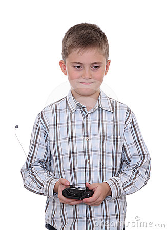 Boy with remote controller