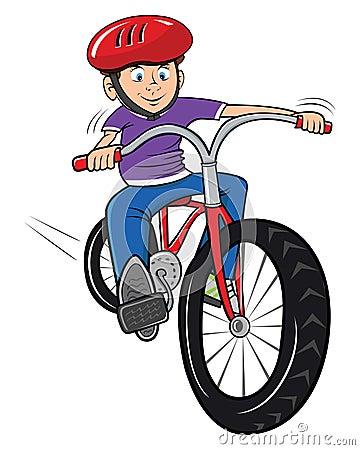 Free Boy Riding His Bike Royalty Free Stock Image - 9749876