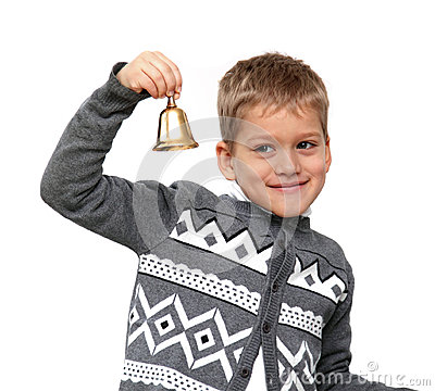 Boy ringing the bell