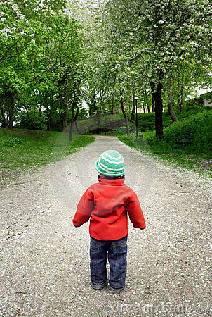 Boy on road